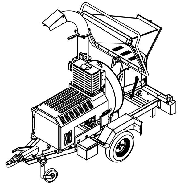 Измельчитель веток CARAVAGGI BIO 235